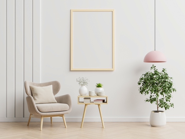 poster-with-vertical-frames-empty-white-wall-living-room-interior-with-blue-velvet-armchair-3d-rendering_41470-2907